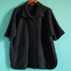 {James Perse} Black Oversize Button Down Jacket